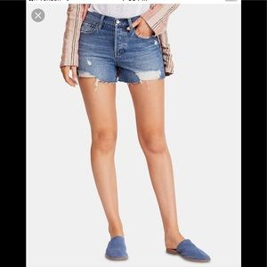 Free People distressed raw hemmed shorts